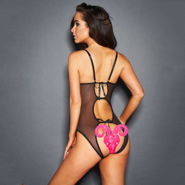Women's Open Crotch Exposed Breast One-piece Sexy Lingerie Nihaostyles Wholesale Clothing NSFQQ78938