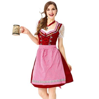 Oktoberfest Beer Maid Dress Cosplay Costume Nihaostyles Wholesale Clothing NSPIS78956