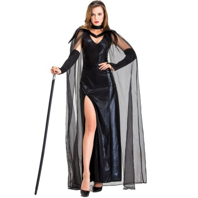 Black Ghost Cosplay Costume Nihaostyles Wholesale Halloween Costumes NSQHM79012