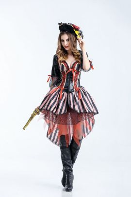 Pirates Of The Caribbean Cosplay Dress Performance Nihaostyles Wholesale Halloween Costumes NSQHM79017
