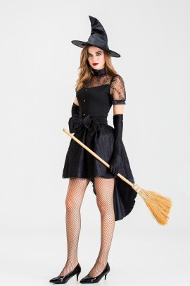 Black Witch Cosplay Costume Nihaostyles Wholesale Halloween Costumes NSQHM79020