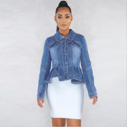 Women's Slim Denim Jacket Nihaostyles Clothing Wholesale NSWL79021