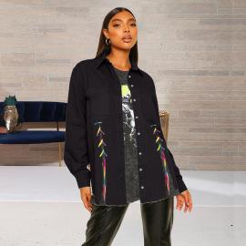 Women's Bandage Denim Jacket Nihaostyles Clothing Wholesale NSWL79022