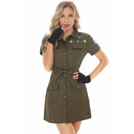 Women's Air Pilot Waist Short-sleeved Dress Cosplay Costume Nihaostyles Wholesale Halloween Costumes NSPIS79038