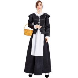 Pastoral Housekeeper Maid Dress Cosplay Costume Nihaostyles Wholesale Halloween Costumes NSPIS79048