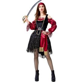 Halloween Medieval Western Pirate Cosplay Dress Nihaostyles Wholesale Halloween Costumes NSPIS79050