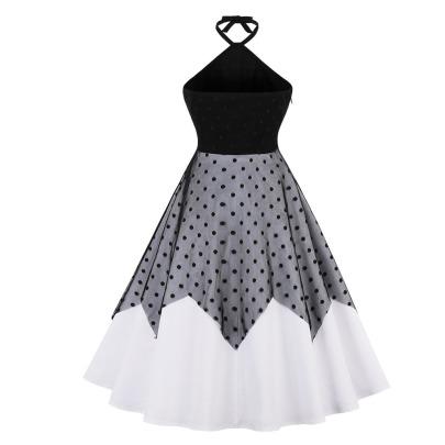 Women's Stitching Halter Lace Dress Nihaostyles Clothing Wholesale NSMXN79075