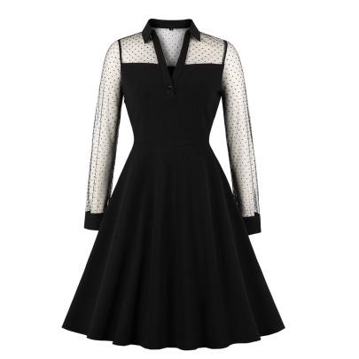 Women's Wave Point V-neck Midi Dress Nihaostyles Clothing Wholesale NSMXN79077