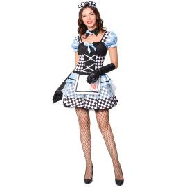 Halloween Costume Maid Vampire Loli Lolita Pettiskirt Cosplay Costume Nihaostyles Wholesale Halloween Costumes NSMRP79078
