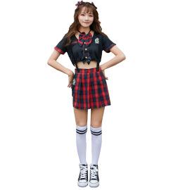 Women's School Uniform Cheerleading Costume Nihaostyles Wholesale Clothing NSMRP79082