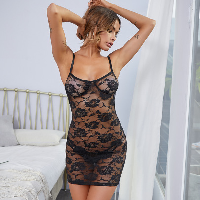 Women's Lace Embroidery Nightdress Nihaostyles Clothing Wholesale NSRBL79164