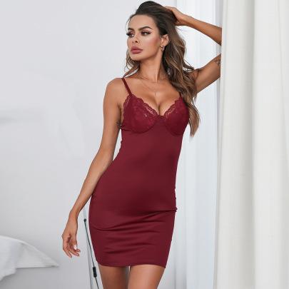 Women's Suspender Slim Nightdress Nihaostyles Clothing Wholesale NSRBL79169