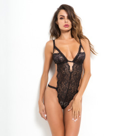 Women's Lace V-neck One-piece Lingerie Nihaostyles Clothing Wholesale NSRBL79174