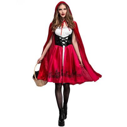 Halloween Little Red Riding Hood Cosplay Costume Nihaostyles Wholesale Halloween Costumes NSPIS79191