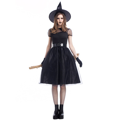 Black Gauze Witch Costume Nihaostyles Wholesale Halloween Costumes NSPIS79194