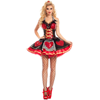 Sexy Peach Heart Queen Cosplay Costume Nihaostyles Wholesale Halloween Costumes NSMRP79219