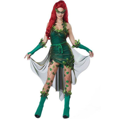 Halloween Costume Party Green Dryad Cosplay Costume Nihaostyles Wholesale Halloween Costumes NSMRP79224