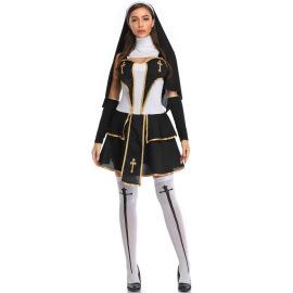 Halloween Costume Nun Cosplay Costume Nihaostyles Wholesale Halloween Costumes NSMRP79227