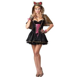 Halloween Costume Leopard Print Cat Cosplay Costume Nihaostyles Wholesale Halloween Costumes NSMRP79231