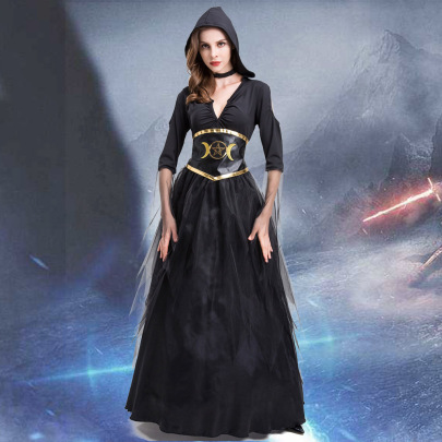 Witch Mage Cosplay Costume Nihaostyles Wholesale Halloween Costumes NSQHM79244