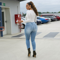 Women's Ripped Slim Jeans Nihaostyles Clothing Wholesale NSWL79257