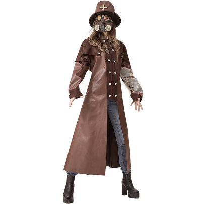 Judge Undead Priest Church Plague Doctor Reaper Queen Halloween Dress Nihaostyles Wholesale Halloween Costumes NSPIS79291