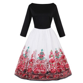 Women's Long-sleeved Embroidered Dress Nihaostyles Clothing Wholesale NSMXN79308