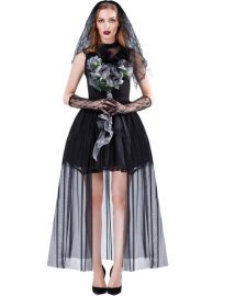 Halloween Costume Vampire Bride Dark Witch Cosplay Costume Nihaostyles Wholesale Halloween Costumes  NSMRP79099