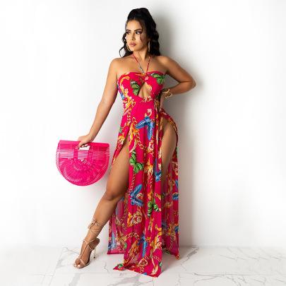 Women's Mesh Halterneck Dress Nihaostyles Clothing Wholesale NSOSD79491
