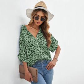 Women's Short-sleeved Loose Chiffon Short-sleeved Printing Shirt Nihaostyles Clothing Wholesale NSSI79524