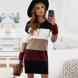 Women's Stitching Hedging Mid-length Sweaternihaostyles Clothing Wholesale NSSI79526