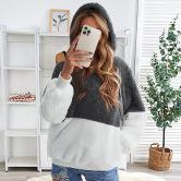 Women's Zipper Plush Hoodie Nihaostyles Clothing Wholesale NSSI79566