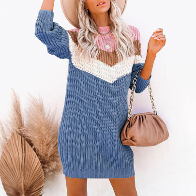 Women's Round Neck Pullover Dress Nihaostyles Clothing Wholesale NSSI79582