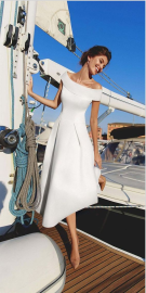 Solid Color Off-shoulder Slim Dress Nihaostyles Wholesale Clothing NSYIS80681