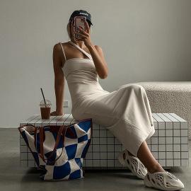 Summer Women's Suspenders Backless Slim Package Hip Nihaostyles Wholesale Clothing NSXPF79696
