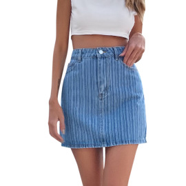 Women's Pocket Denim Skirt Nihaostyles Clothing Wholesale  NSJM79756