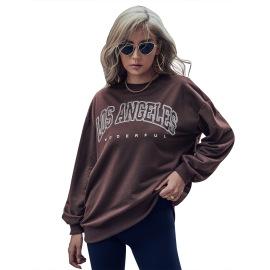 Women's Letter Printing Pullover Round Neck Sweatshirt Nihaostyles Clothing Wholesale NSJM79780