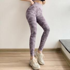 Women's Camouflage Print High Waist Stretch Yoga Pants Nihaostyles Clothing Wholesale NSXER79797