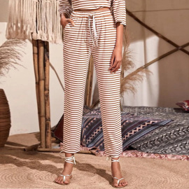 Spring And Summer Women's Striped Home Slacks Pants Nihaostyles Wholesale Clothing NSYSQ79823