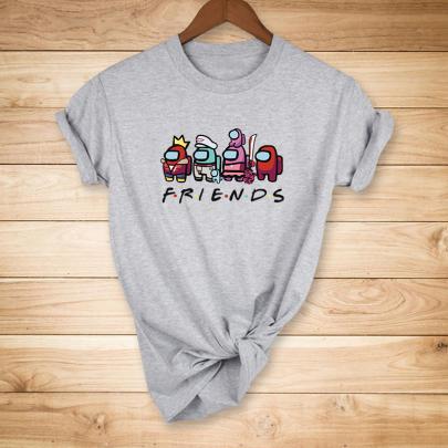 Cartoon Printed T-shirt Nihaostyles Wholesale Clothing NSYAY80874
