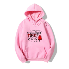 Christmas Tree Letter Print Long Sleeve Fleece Hooded Sweatershirt Nihaostyles Wholesale Christmas Costumes NSYAY80864