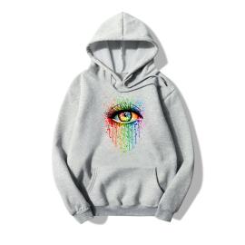 Watercolor Splash Ink Eye Print Fleece Hooded Sweatershirt Nihaostyles Wholesale Clothing NSYAY80861