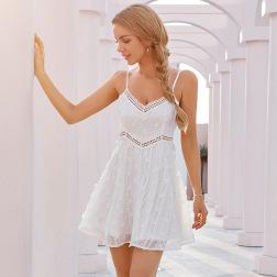 women's sling V-neck lace dress nihaostyles clothing wholesale NSWX79856