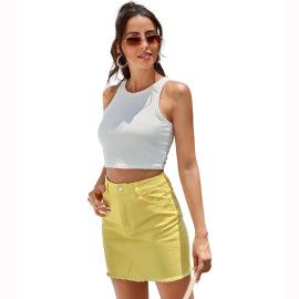 Autumn And Winter Women's Denim High Waist Short Skirt Nihaostyles Wholesale Clothing NSJM79875