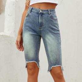 Autumn And Winter Women's Irregular High Waist Jeans Nihaostyles Wholesale Clothing NSJM79904