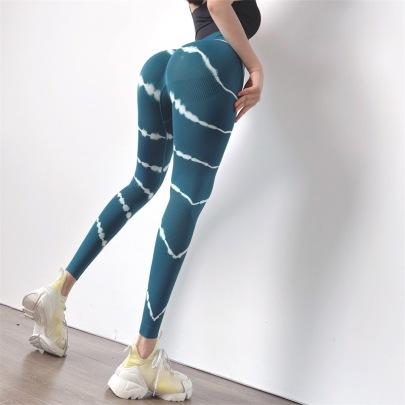 Women's Tie-dye High-waist Quick-drying Yoga Pants Nihaostyles Clothing Wholesale NSXER79915