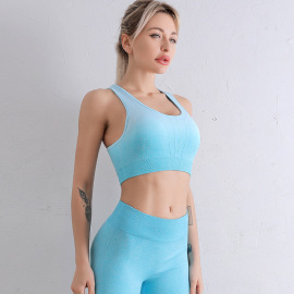 Women's Seamless Knitted Gradient Sports Underwear Nihaostyles Clothing Wholesale NSXER79925