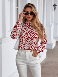 Women's Round Neck Long-sleeved Floral Top Nihaostyles Wholesale Clothing NSJM79953