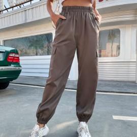 Women's Beamed High Waist Slim Harem Pants Nihaostyles Wholesale Clothing NSJM79956