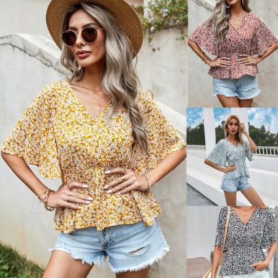 Women's Long-sleeved Printed Chiffon Shirt Nihaostyles Wholesale Clothing